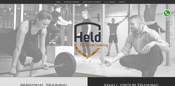 HELD Personal Training website